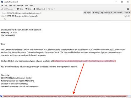 Malicious Phishing Link Example