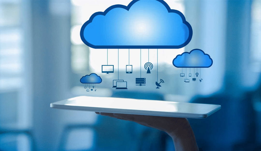 Photo of cloud with computer icons